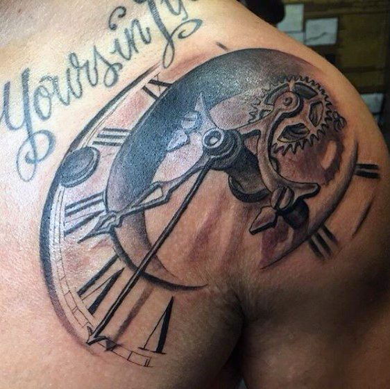 Top 80 Mind-Blowing Clock Tattoos [2020 Inspiration Guide] | Mens .