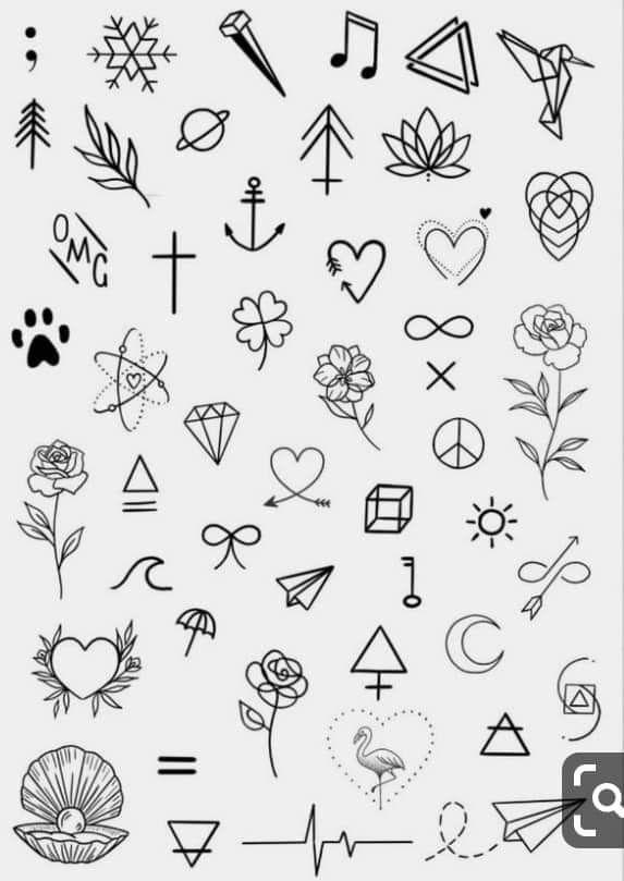 Mini Tattoo Designs – lilostyle in 2020 | Sharpie tattoos, Tattoo .