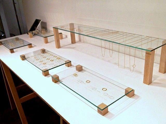 Modern Minimalist Jewelry Display Ideas | Wood jewelry display .