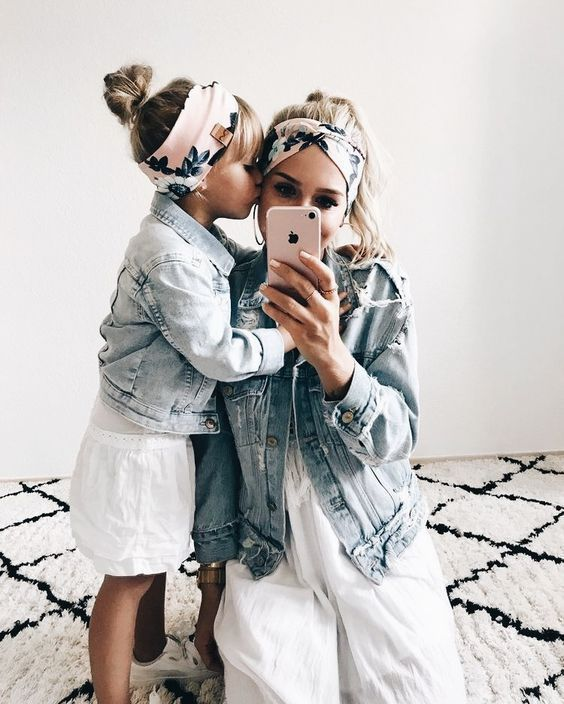 47 Adorable Mothers and Daughters Matching Outfit Ideas,   Mommy .
