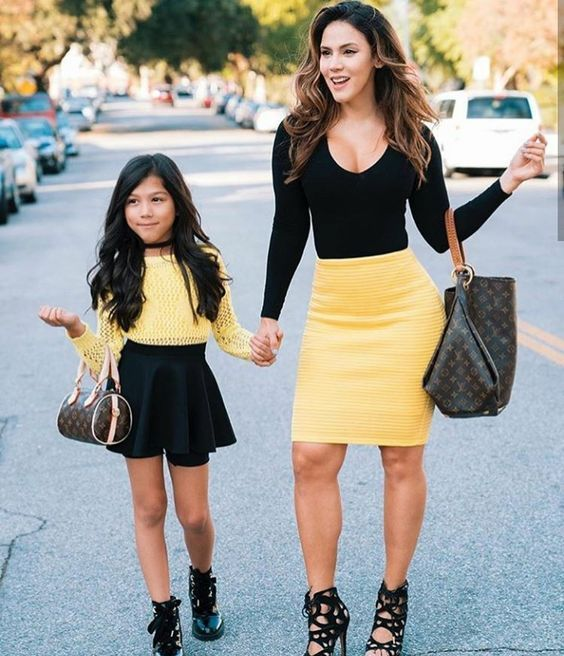 47 Adorable Mothers and Daughters Matching Outfit Ideas   Mom .