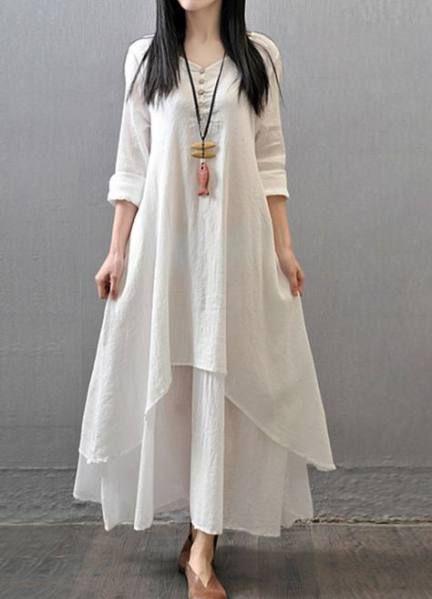Most Popular white dress winter casual Ideas in 2020   Linen maxi .