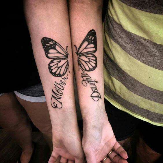 Mother #Daughter #Tattoo #Butterfly   Tattoos for daughters .