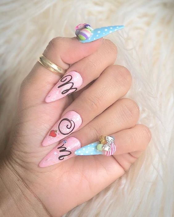 30 Adorable Mother's Day Nail Art Designs – Page 22 – Tiger Fe