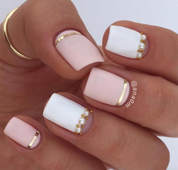 101 Classy Nail Art Designs for Short Nails | Classy nail designs .