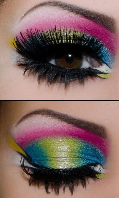 Colorful Neon Eye Makeup Ideas Perfect for Summer | La Belle .