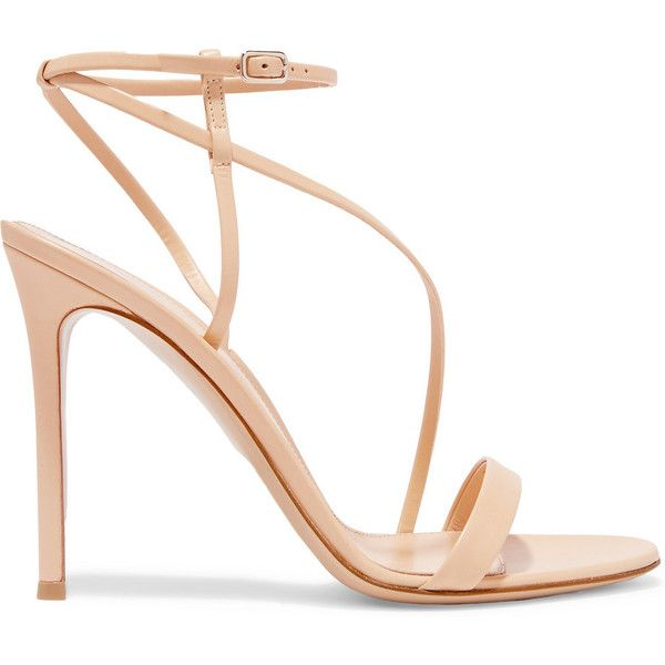 Gianvito Rossi Leather sandals ($650) ❤ liked on Polyvore .