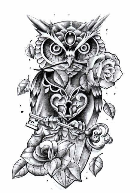 Chic Perfect +250 Owl Tattoo Design Ideas | Cute owl tattoo, Owl .