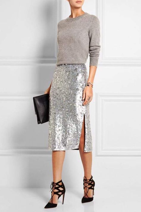 35+ Party-perfect Sequin Outfit Ideas for a Glam Party Look .