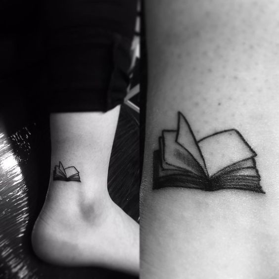 48 Inspiring Book Tattoo Ideas for Girls   Small book tattoo .