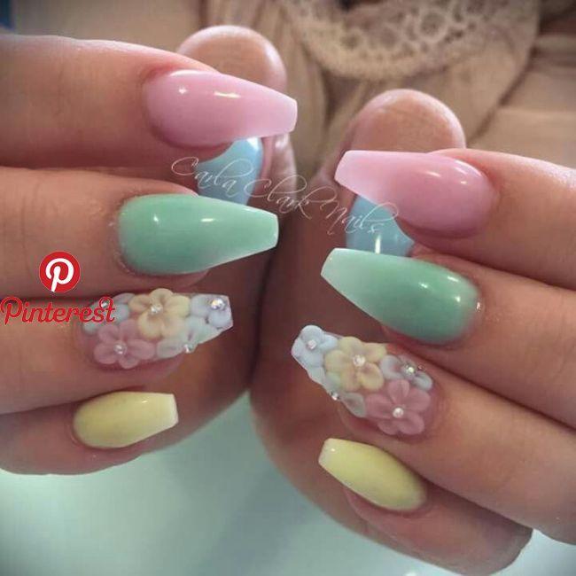 Perfect spring nails! | Nails | Pinterest | Nails, Acrylic Nails .