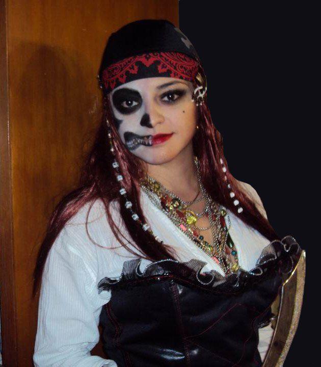 pirates of the caribbean makeup | Halloween makeup pirate .