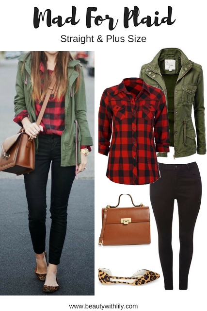 Fall Plaid Outfit Ideas   Regular & Plus Size   Plaid outfits .