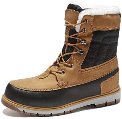 Amazon.com: NiuBuLaio Winter Warm Plush Fur Snow Boots Men Ankle .