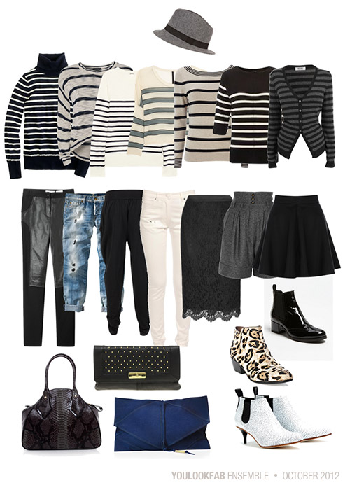 Pairing Striped Tops with Unexpected Bottoms - Y