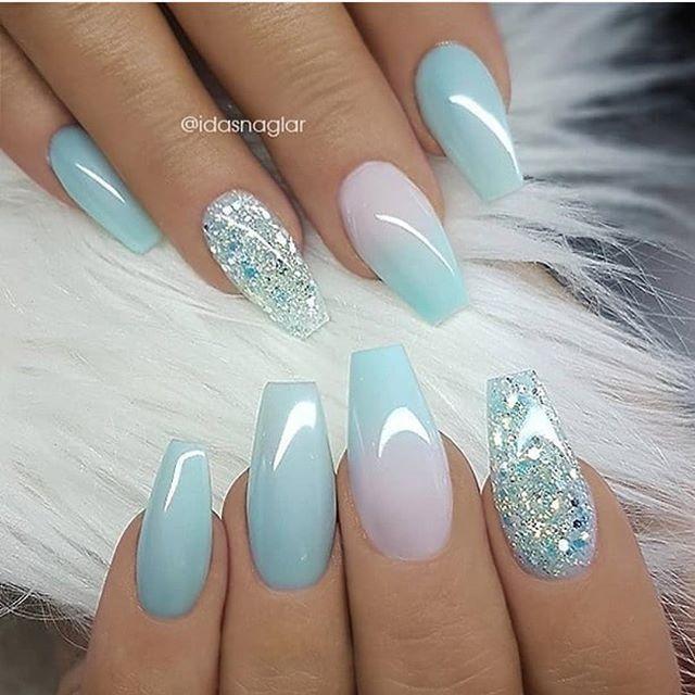 Pretty summer nails | Бирюзовые ногти, Ногти, Дизайнерские ногт