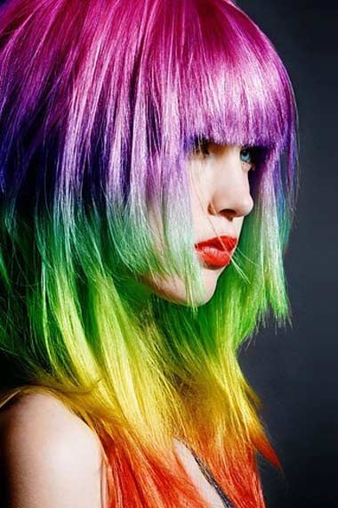 30 Rainbow Colored Hairstyles to Try - Pretty Desig