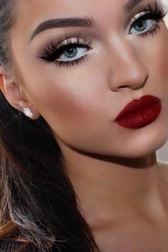 Dark Red Lipstick Makeup Ideas picture 3   Red lipstick makeup .
