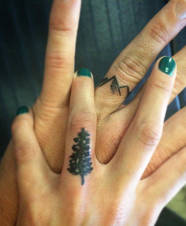 60 Romantic Ring Finger Tattoo Ideas   Finger tattoos for couples .