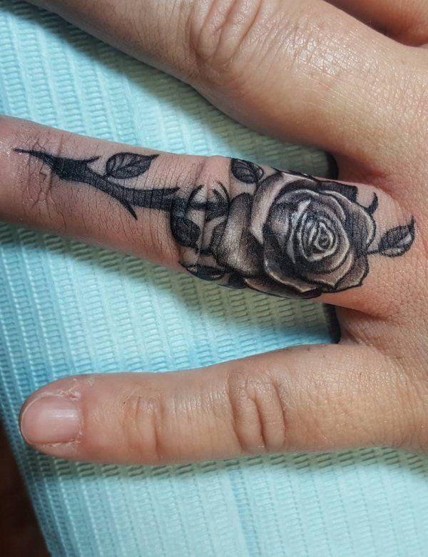 60 Romantic Ring Finger Tattoo Ideas   Ring finger tattoos, Finger .