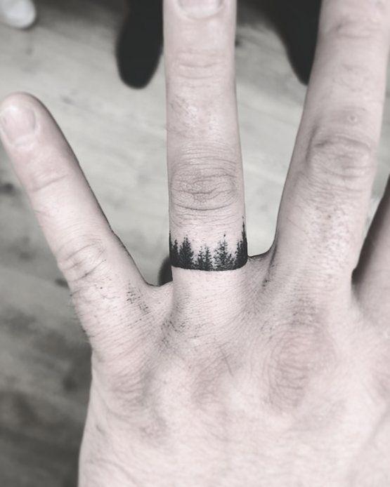 60 Romantic Ring Finger Tattoo Ideas   Ring finger tattoos, Band .