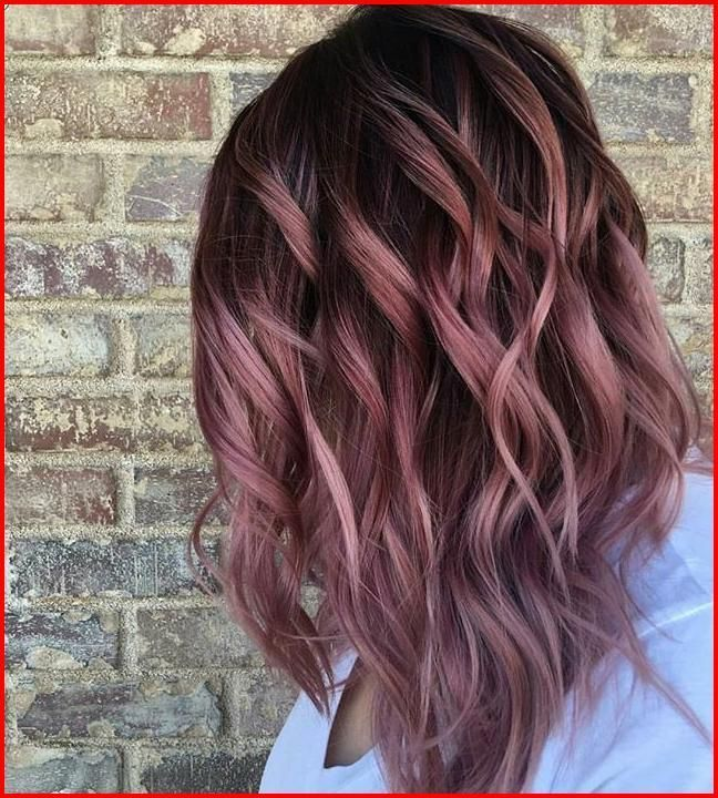 Rose Gold Ombre Hair Shade Concepts, Someplace between full-on .