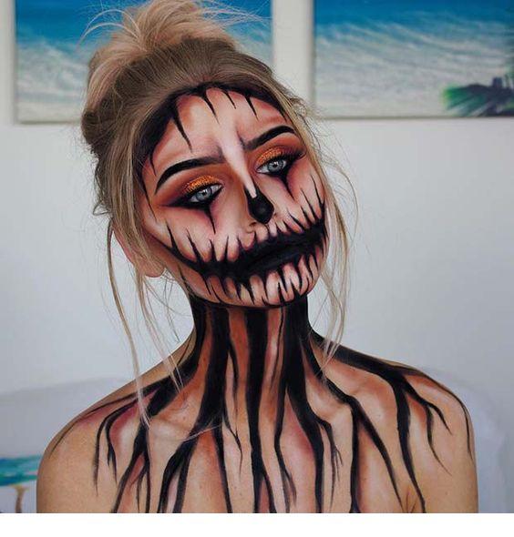 Scary Halloween Makeup Ideas for 2018 - Miladies.n