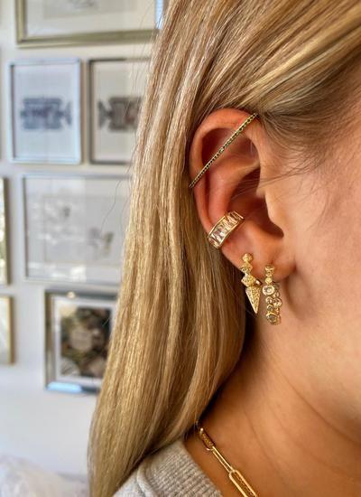 Pave Earbar Earring in 2020   Ear cuff, Melinda maria jewelry .