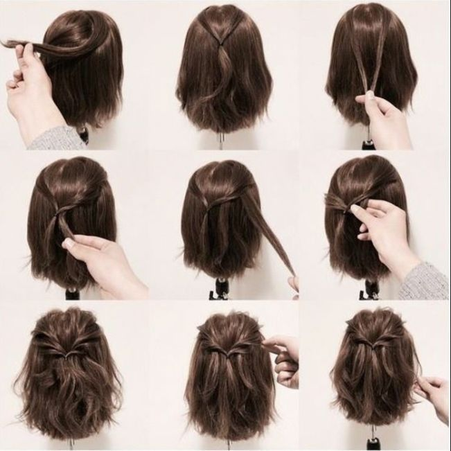 Prom Short Hairstyles 2018 Source by mamascoolideas #Abschlussbal .