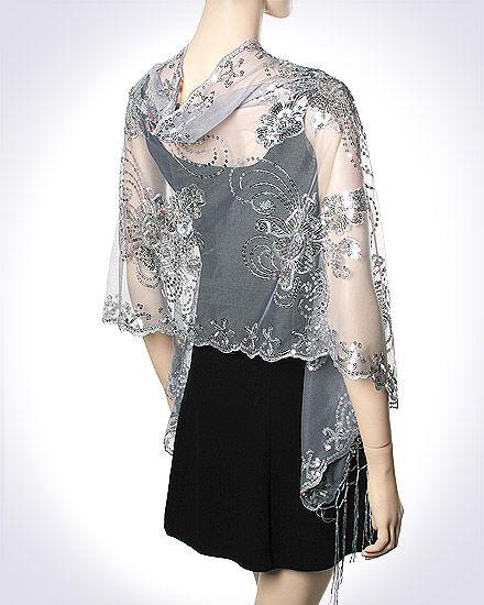 Evening shawl   Evening shawls and wraps, Shrug for dresses, Fashi