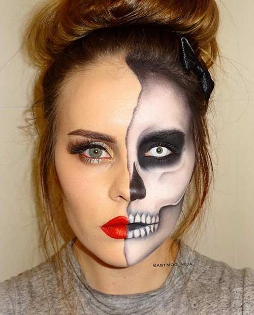 43 Cool Skeleton Makeup Ideas to Try for Halloween | StayGlam .