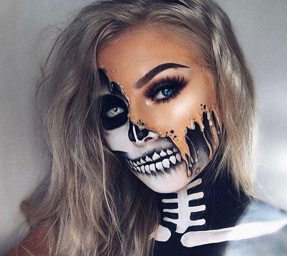 30+ Cool and Glamorous Skeleton Makeup Ideas - bemethis | Unique .