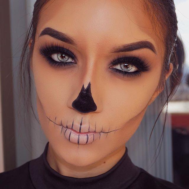 be safe guys | Cute halloween makeup, Halloween makeup easy .