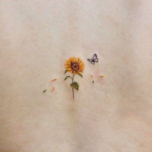 101 Best Sunflower Tattoo Ideas & Designs (2020 Guide) in 2020 .