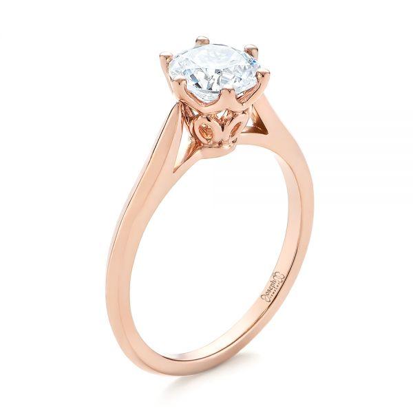 Solitaire Diamond Engagement Ring #104173 - Seattle Bellevue .