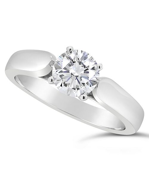 Macy's Certified Round Diamond Solitaire Engagement Ring (1 ct. t