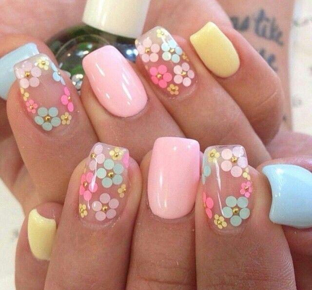 Playful spring nails | Spring nail art, Easter nail designs .