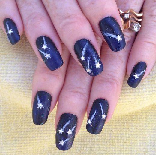 17 Stunning Star Nail Designs for Fashionistas - crazyforus | Star .