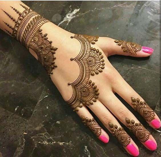 Beautiful Back Hand Mehndi art   Mehndi designs 2018, Mehndi .