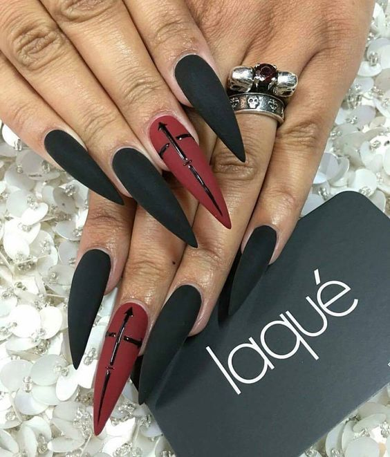 70+ cool and creative stiletto nail art designs; Stiletto Nail .
