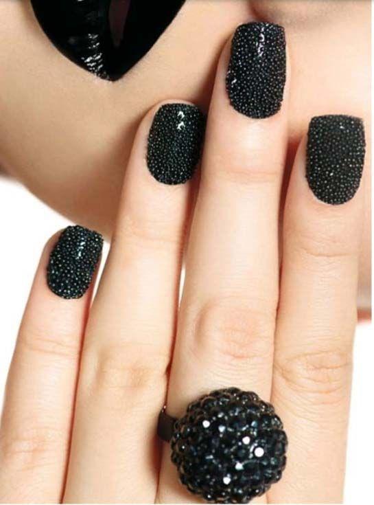 Beautiful Black Nail Art   Fashion nails, Nail designs, Nai