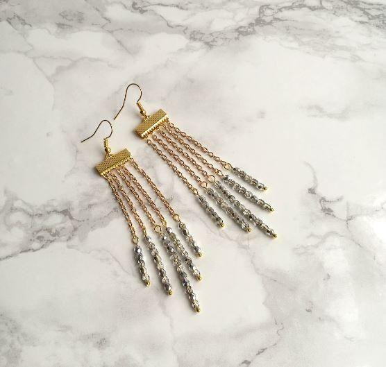 Stunning Waterfall DIY Beaded Earrings   Diy earrings easy, Diy .
