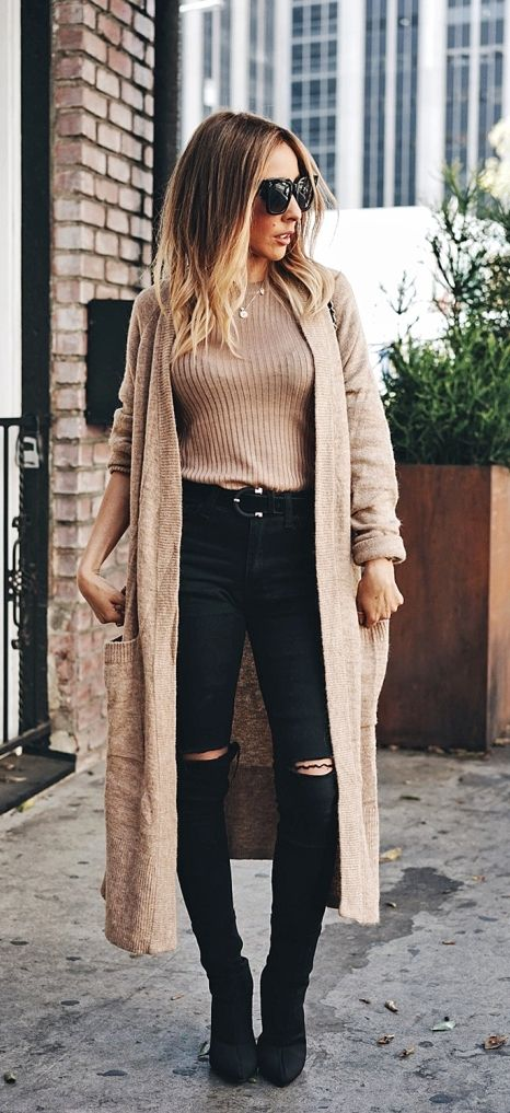 Comfy and Cozy Long Cardigan Outfits For This Season - Be Modish .