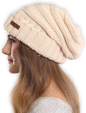 Brook + Bay Slouchy Cable Knit Cuff Beanie - Stay Warm & Stylish .