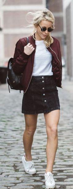 10+ Best Black denim skirt images   black denim skirt, skirt .