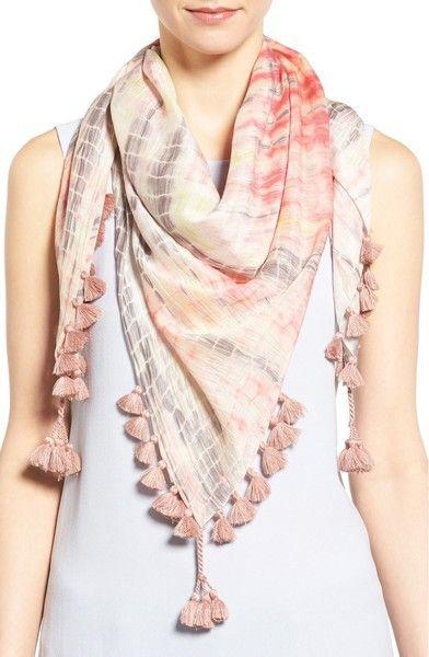 Eileen Fisher Modal & Silk Tassel Trim Scarf   Scarf styles, Scarf .