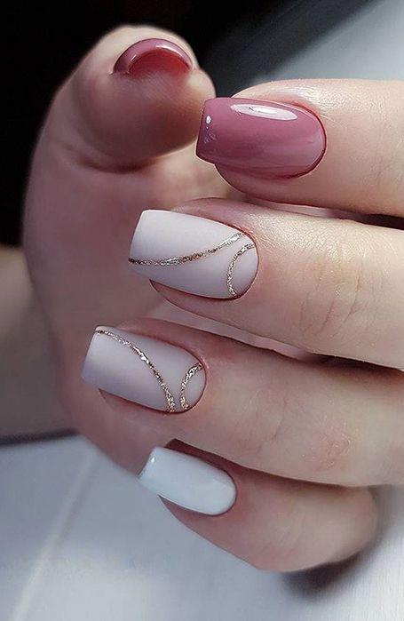 20 Cute Summer Nail Designs for 2020 in 2020   Wedding nail art .