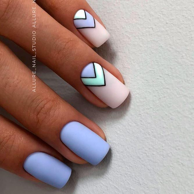 Awesome Summer Nail Art to Try   NailDesignsJournal.com   Blue .