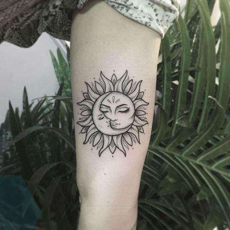 25 Sun and Moon Tattoo-Design-Ideen, | Sun tattoo designs, Moon .