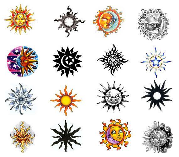 Sun Tattoo Design   Moon tattoo, Sun tattoo designs, Sun tatto